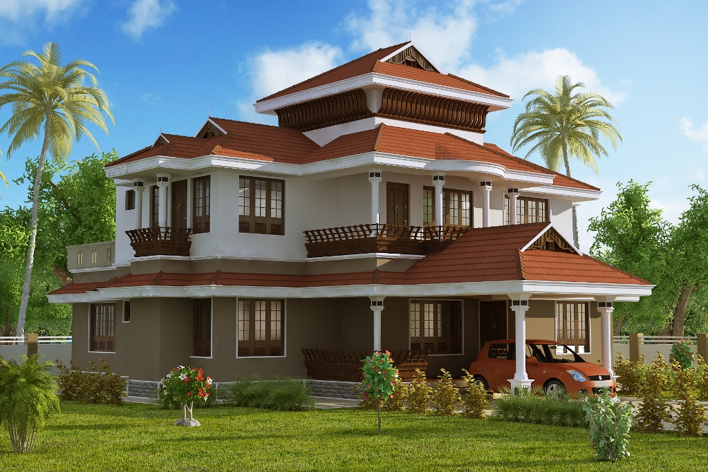 3D-views-of-2437-sqft-traditional-style-home-design